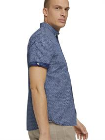 1025973 navy check with print
