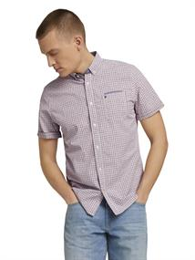 1025973 red off white check with print