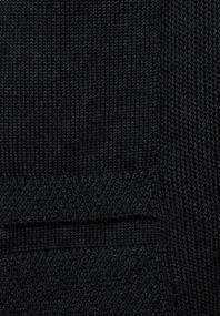 Basic Strickjacke black