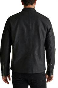 Biker-Jacke in Leder-Optik black