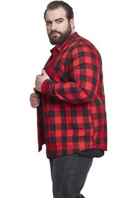 Checked Flanell Shirt blk-red