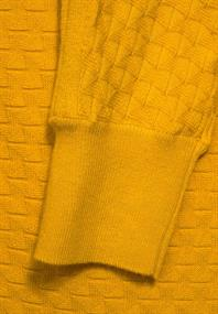 Dolman-Pullover in Unifarbe amber yellow