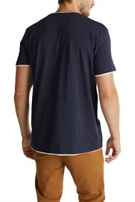 Jersey-Shirt aus 100% Organic Cotton navy
