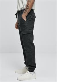 Knitted Cargo Jogging Pants black