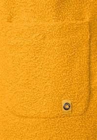 Mantel in Curly Woll-Optik golden yellow