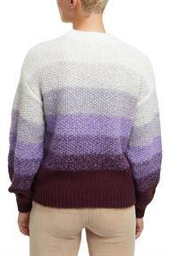 Mit Wolle: gestreifter Grobstrick-Pullover lilac 3