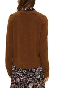 Mit Wolle: V-Neck Cardigan toffee 5