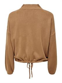 ONLAMALIA L/S STRING PULLOVER CC KNT toasted coconut