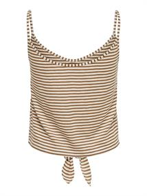 ONLGLORIA LIFE S/L KNOT BUTTON TOP JRS toasted coconut