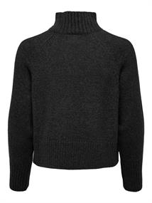 ONLMACADAMIA L/S HIGHECK PULLOVER BF KNT black
