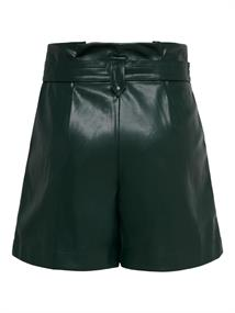 ONLMAERYN-RAG HW FAUX LEATHER SHORTS PNT scarab
