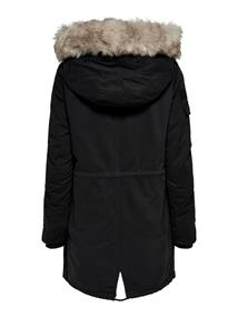 ONLMAY FUR CANVAS PARKA CC OTW black