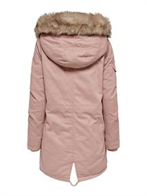 ONLMAY FUR CANVAS PARKA CC OTW misty rose