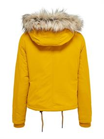 ONLPEYTON AW SHORT FUR JACKET CC OTW golden yellow