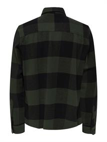ONSMILO LIFE LS CHECK OVERSHIRT NOOS forest night