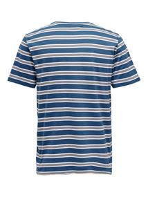 ONSSKETCHY REG SS STRIPED TEE dark blue