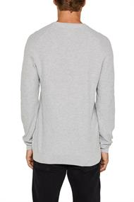 Piqué-Pullover, 100% Baumwolle light grey