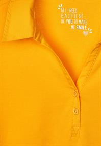 Polo-Shirt in Unifarbe mango yellow