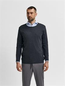 SLHROME LS KNIT CREW NECK G anthracite