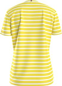 TH COOL ESS RELAXED C-NK TEE SS classic breton stp- frosted lemon