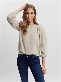 VMLEFILE LS O-NECK PUFF BLOUSE COLOR birch