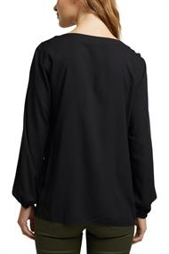 Women Blouses woven long sleeve black