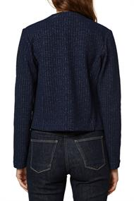 Women Jackets indoor knitted cropped navy