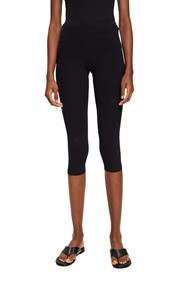 Women Pants knitted cropped black