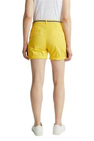 Women Shorts woven short bright yellow