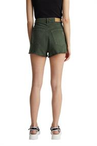 Women Shorts woven shorts khaki green