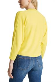 Women Sweaters cardigan 3/4 sleeve yellow