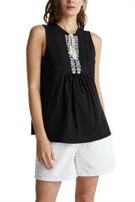 Women T-Shirts sleeveless black