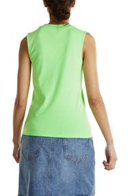 Women T-Shirts sleeveless light green 4